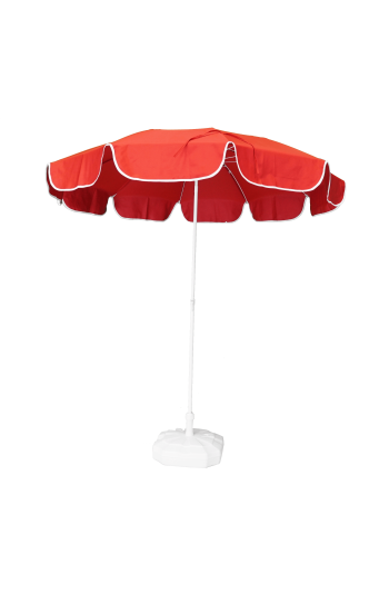 2m Kırmızı Plaj Şemsiyesi