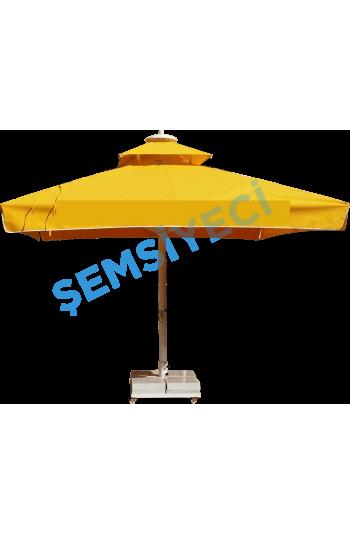 3m x 3m  Teleskopik Mekanizmalı Kare Lüx Şemsiye